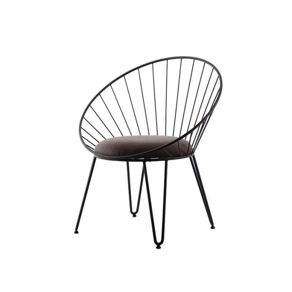 Metal-Gövdeli-Siyah-Deri-Sandalye-(SAN-103)