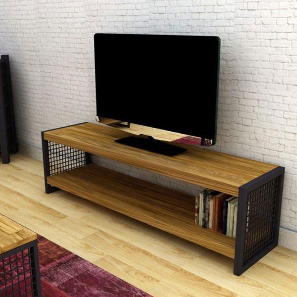 Ahşap-Meşe-Kaplama-Tv-Sehpası-(Tv-103)