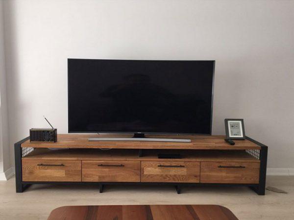 Ahşap-Meşe-Kaplama-Tv-Sehpası-(Tv-106)