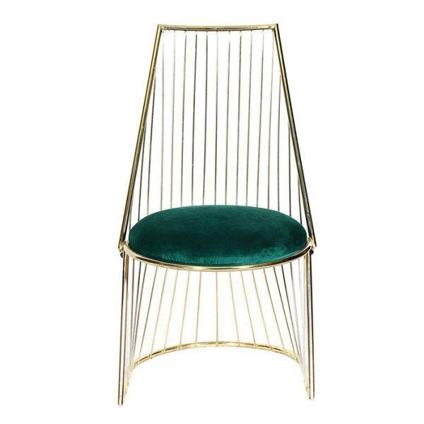 Paslanmaz-Altın-Sarısı-Krom-Metal-Sandalye-(San-140)