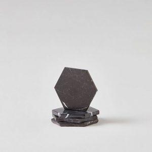 Siyah Mermer Bardak Altlığı/ 4'lü SetX