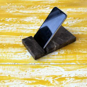Telefon Standı Kahverengi Damarlı Dekoratif Ürün