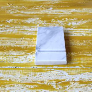 Mermer Telefon Standı Beyaz Karışık Damarlı Dekoratif Ürün