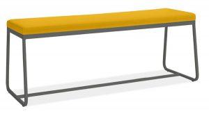 Banvıtle Siyah Metal Sarı Bench Puf