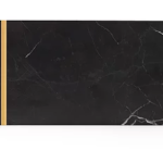 Dikdörtgen Mermer Servis - Siyah&Altın