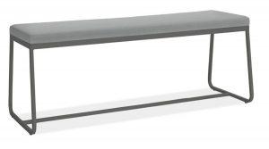 Banvıtle Siyah Metal Bench Puf
