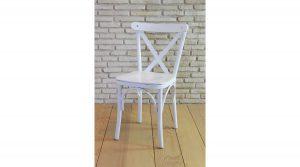 Fgonet Beyaz Sade Sandalye
